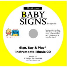 Instrumental Sign, Say & Play Music CD